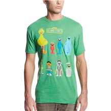 Sesame Street Group 8-Bit T-Shirt