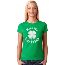 Kiss Me I'm Irish St. Patrick's Day Junior T-shirt