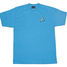 Star Trek Science Uniform Adult Tee