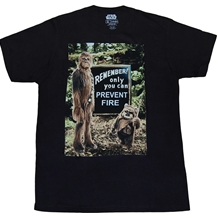 Star Wars Chewbacca Prevent Forest Fires T-Shirt