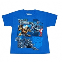 Transformers Action Panels Kids T-Shirt