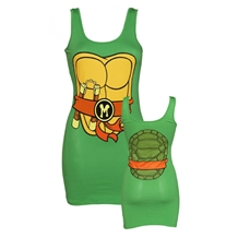 Teenage Mutant Ninja Turtles Michelangelo Costume Junior Tank Dress