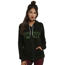 Teenage Mutant Ninja Turtles Heads Logo Junior Women's Hoodie