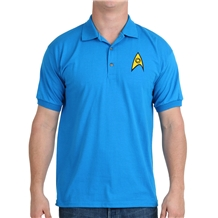 Star Trek Starfleet Science Uniform Polo Shirt