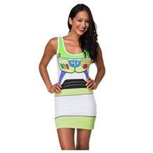 Toy Story Buzz Lightyear Costume Tunic Tank Dress