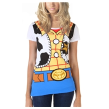 Toy Story Woody Costume Junior Women's T-Shirt