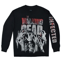 Walking Dead Infected Hands Long Sleeve Shirt