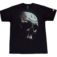 Before Watchmen Comedian Smiley Face Skull T-Shirt