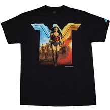 Wonder Woman Movie Red and Blue T-Shirt