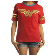 Wonder Woman Athletic Foil Jersey T-Shirt