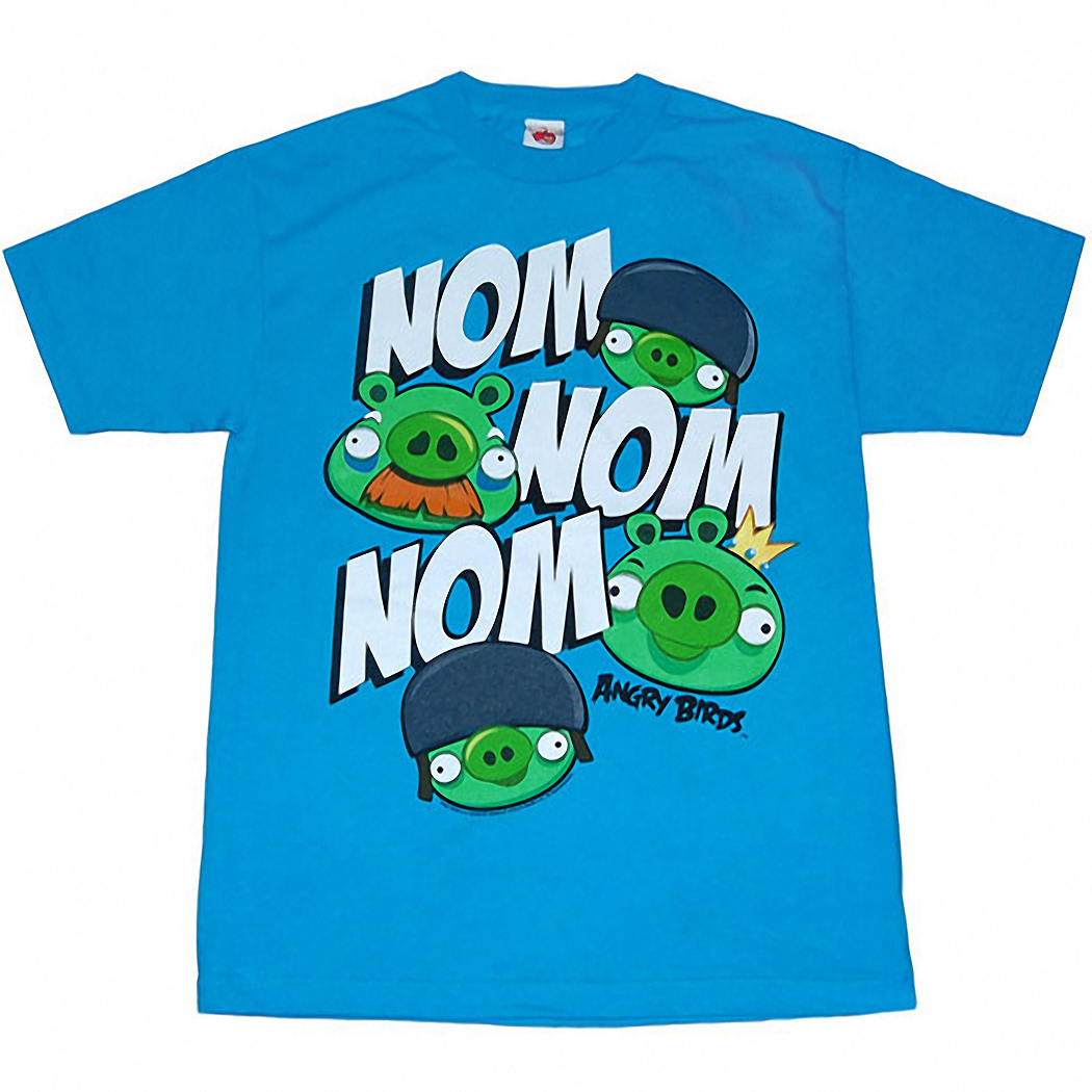 Angry Birds Nom Nom Adult T-Shirt