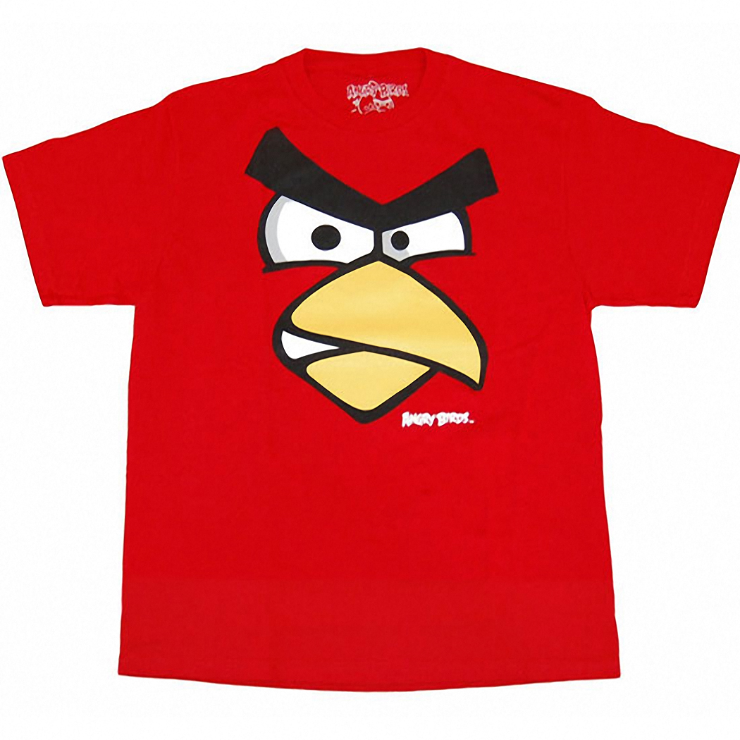 Angry Birds Red Face Kids T-Shirt
