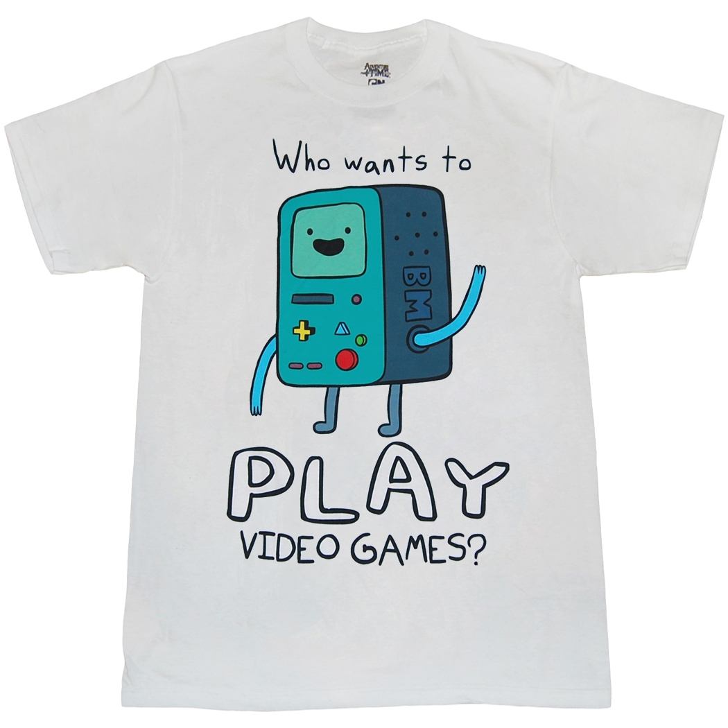 Adventure Time Beemo Want To Play Video Games T-Shirt