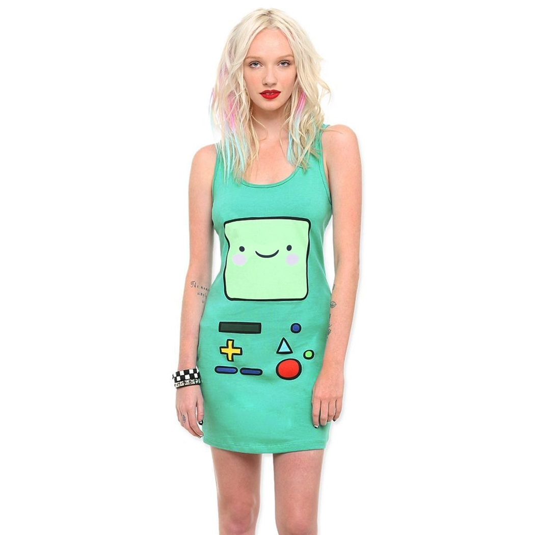 Adventure Time Beemo Junior Tunic Tank Dress