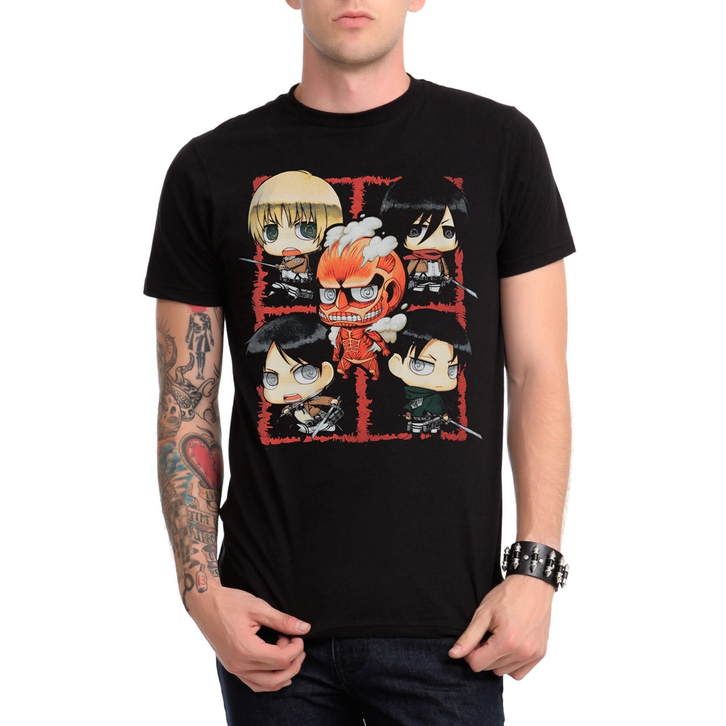 Attack on Titan Chibi Characters T-Shirt