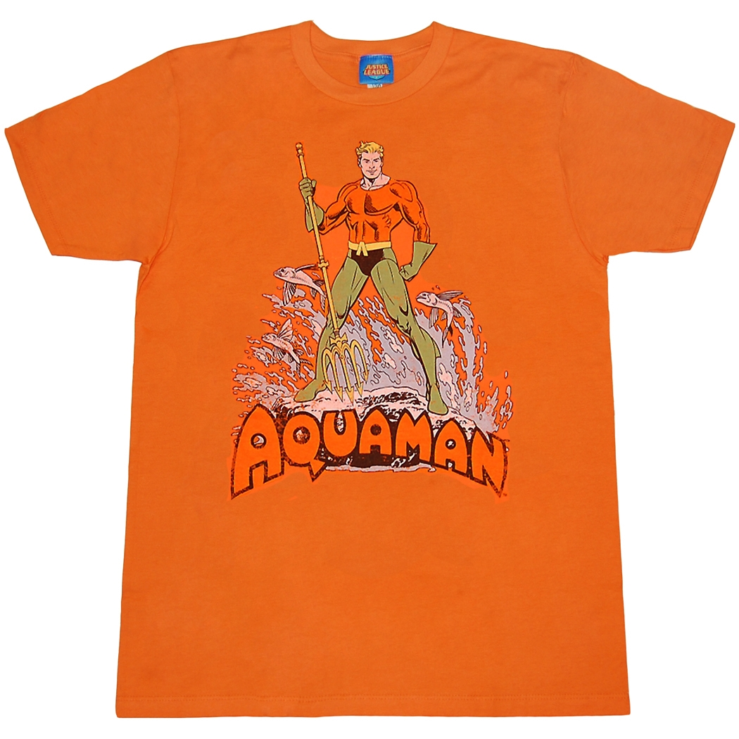 Aquaman Retro Distressed T-Shirt