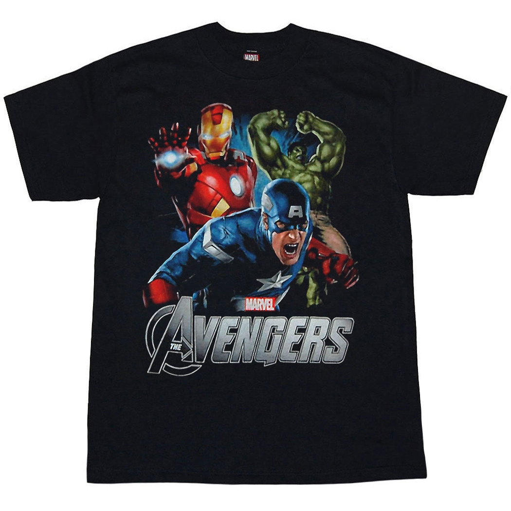 Avengers Shirts - Avengers Action Packed Youth Kids T
