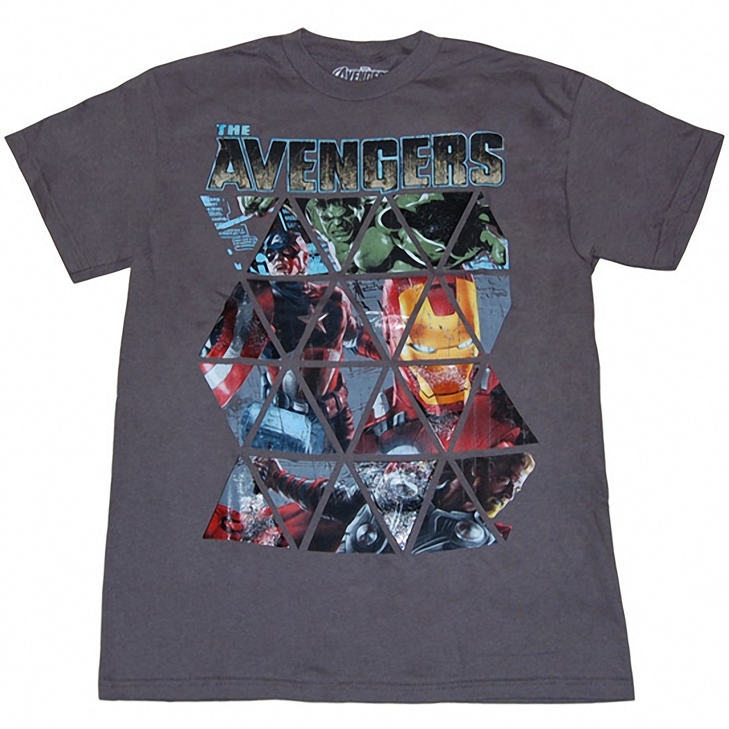The Avengers Movie Grid T-Shirt