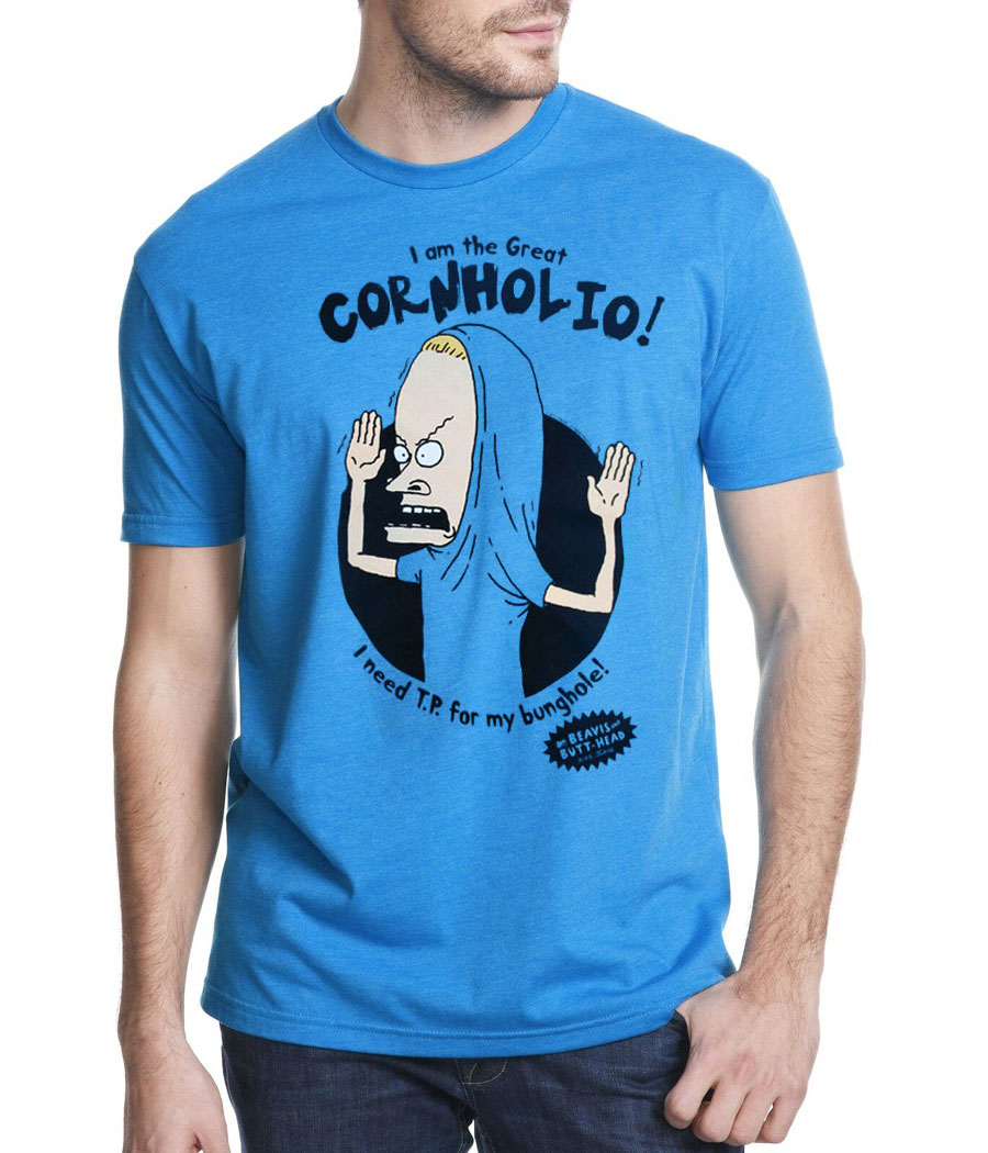 beavis and butthead the great cornholio t-shirt | animationshops