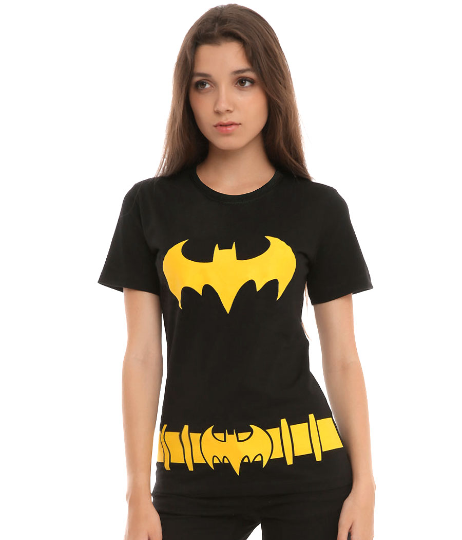 Batman Batgirl Costume Junior Women's T-Shirt