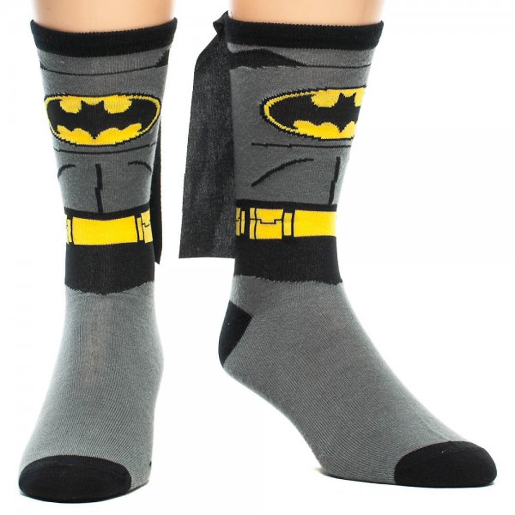Batman Costume Cape Crew Socks