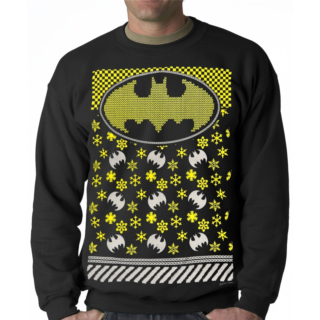 Batman Snowflake Ugly Christmas Sweater