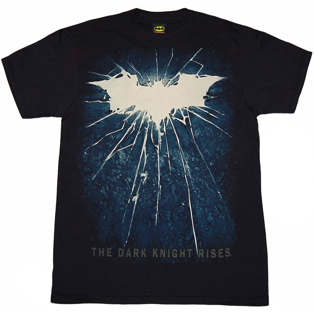 Dark Knight Rises: Bold Shattered Logo T-Shirt
