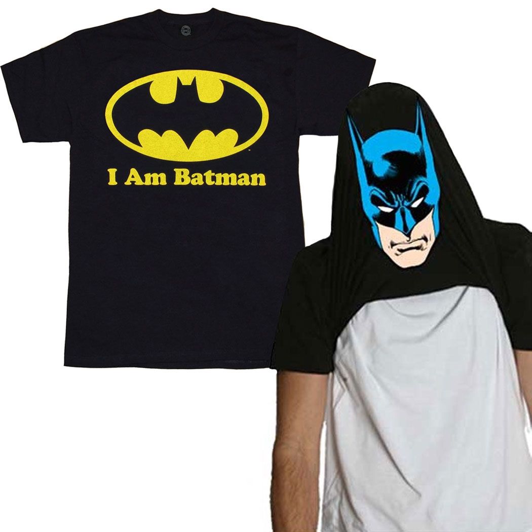 I Am Batman Reversible Costume T-Shirt