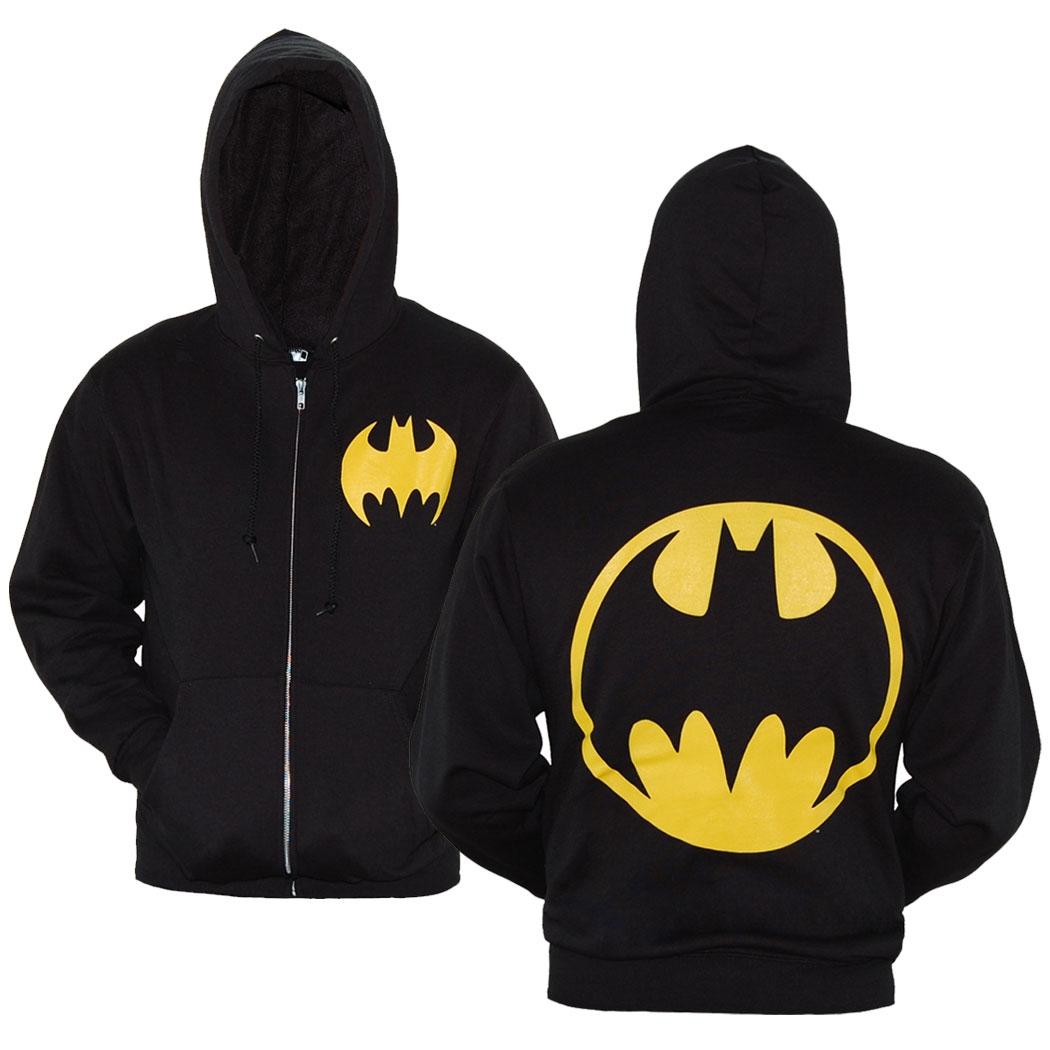 batman symbol zip-up hoodie | animationshops