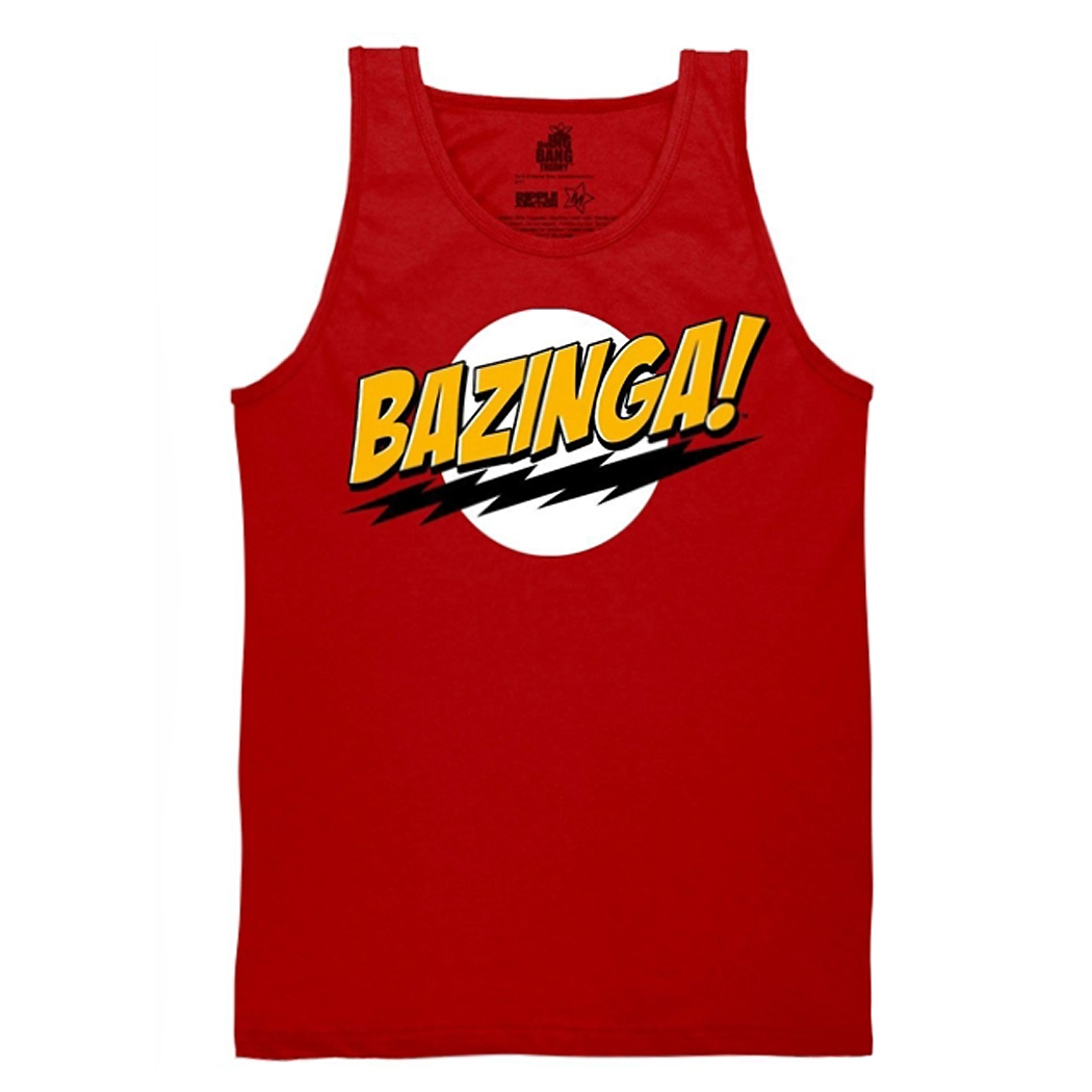 Big Bang Theory Bazinga! Red Tank Top