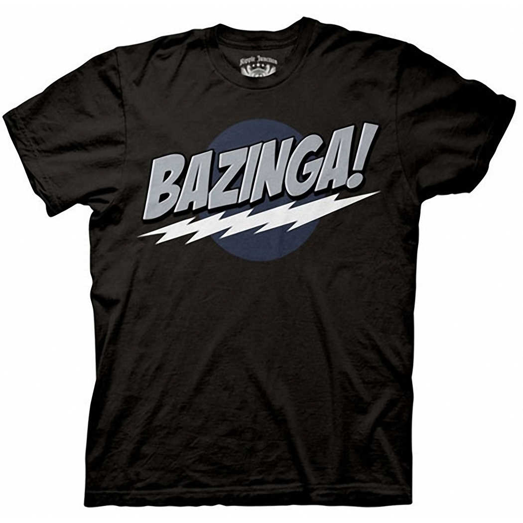 Big Bang Theory Bazinga Black T-Shirt