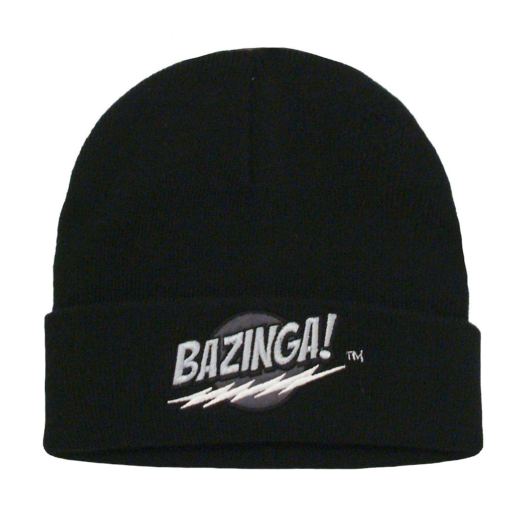 Big Bang Theory Bazinga Black Knit Beanie