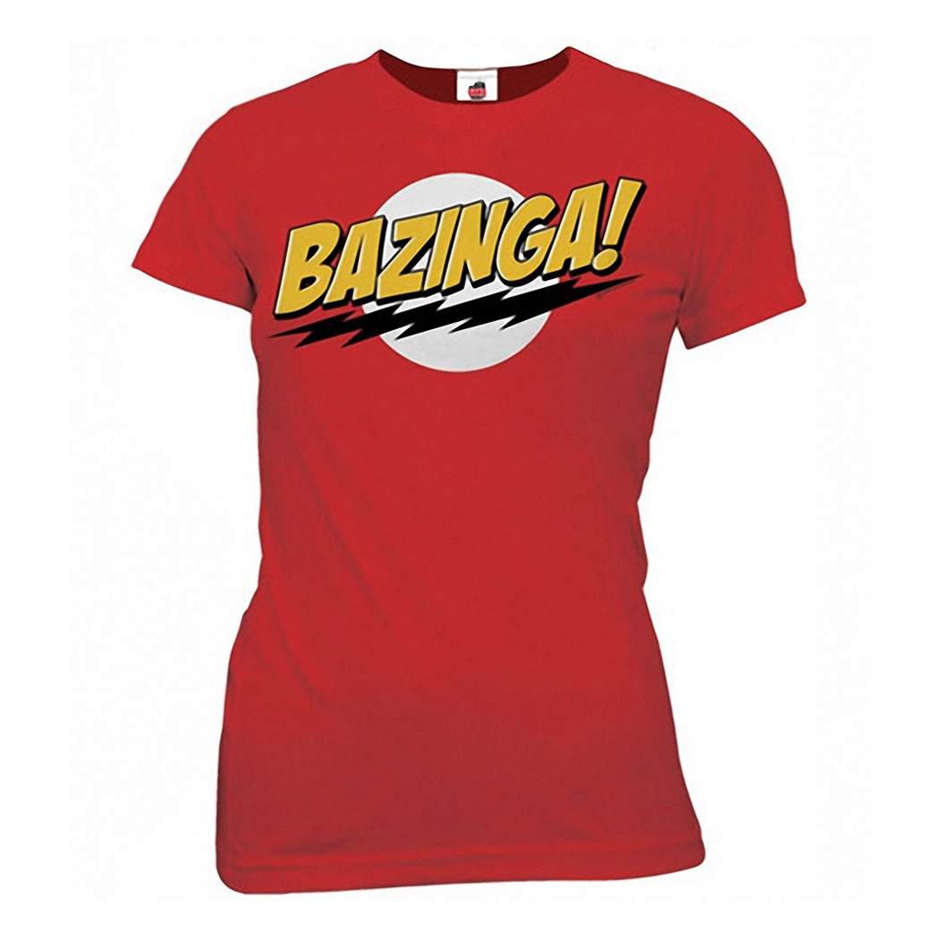 Big Bang Theory Bazinga Junior Ladies T-Shirt