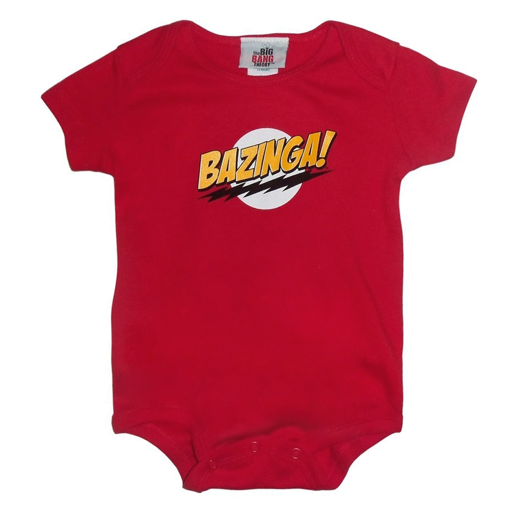Big Bang Theory Bazinga Onesie Romper