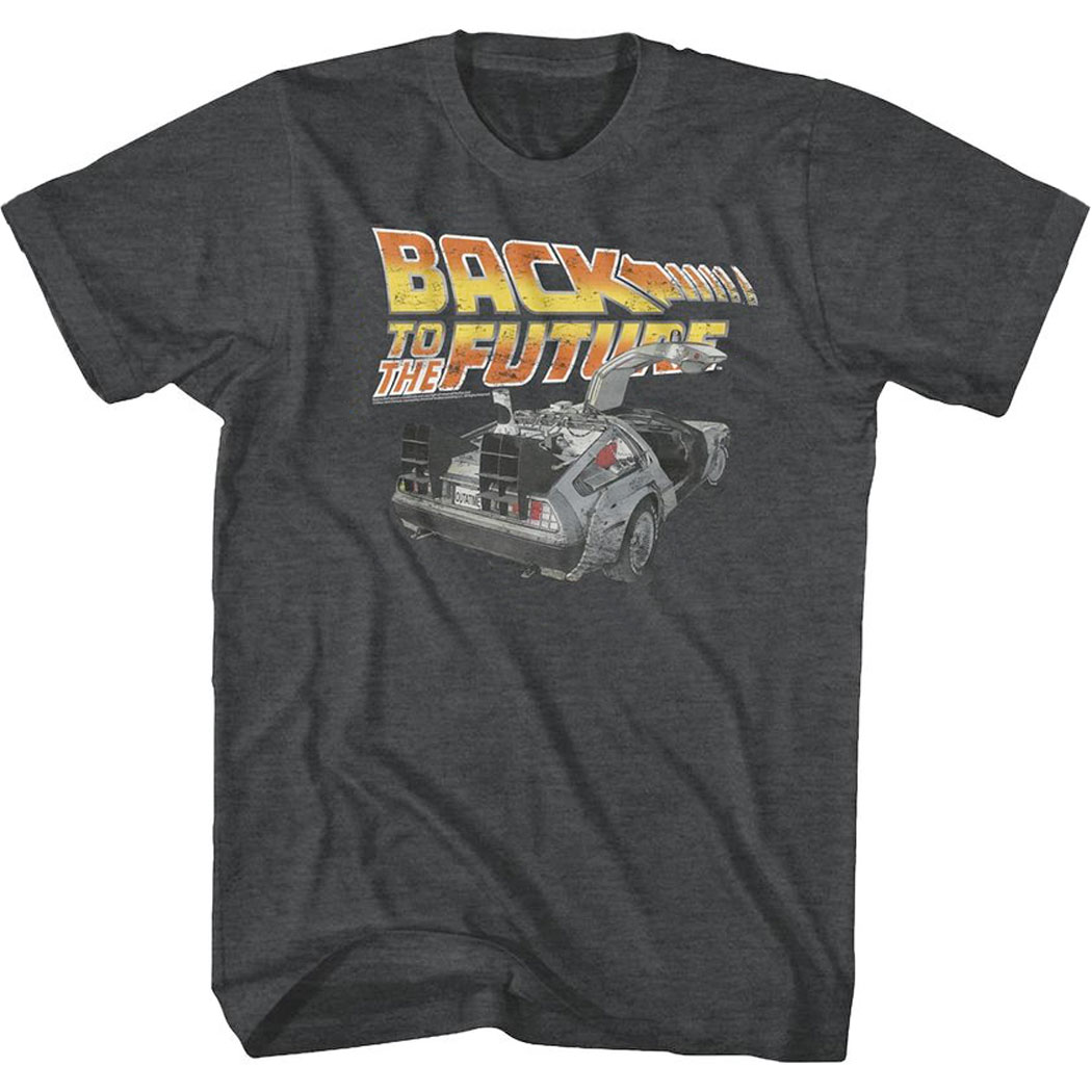 Back To The Future Distressed Delorean T-Shirt