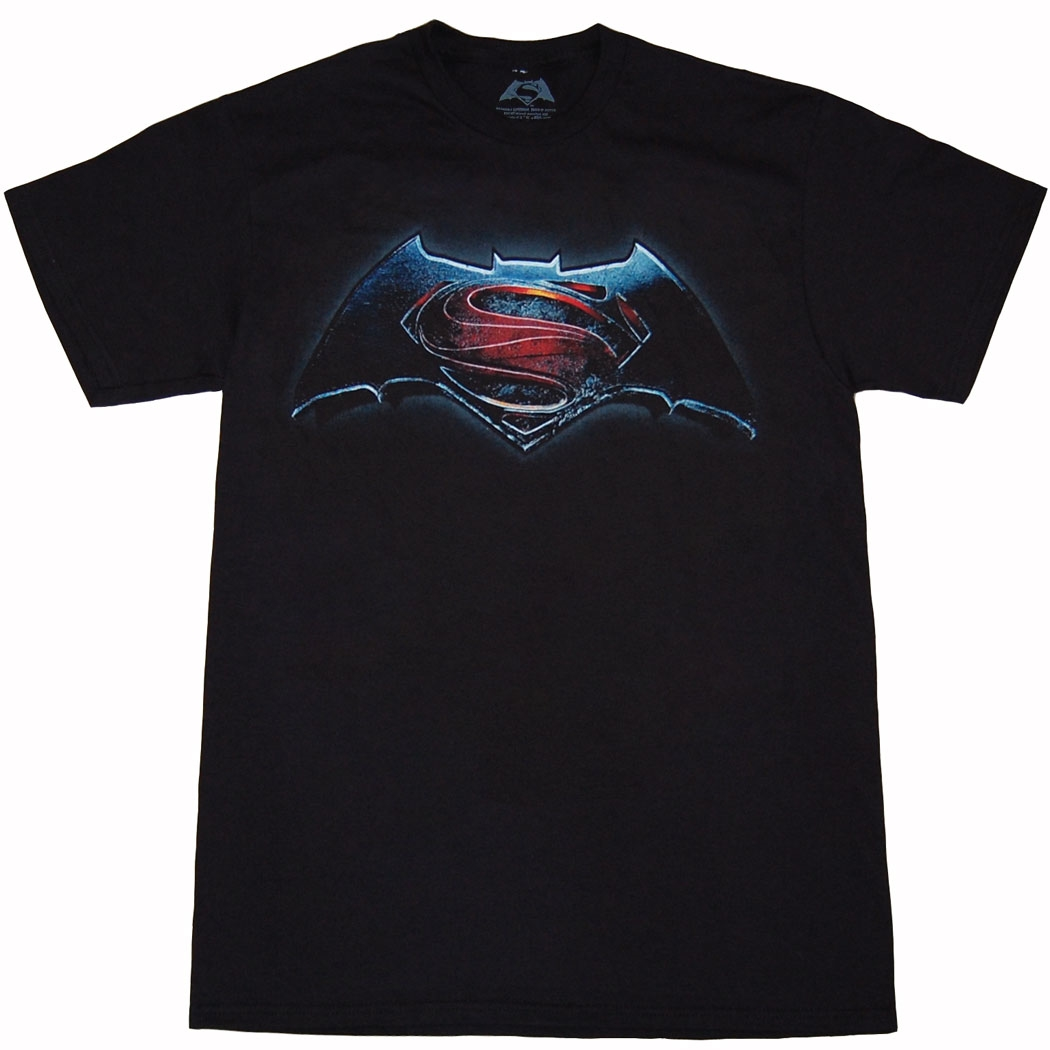 Batman vs Superman Main Logo Mens T-Shirt