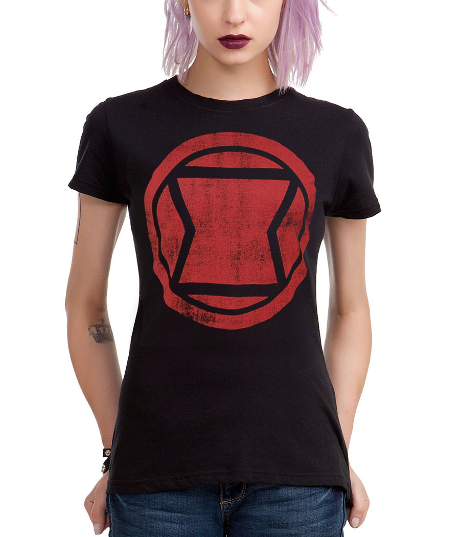Black Widow Logo Junior T-Shirt