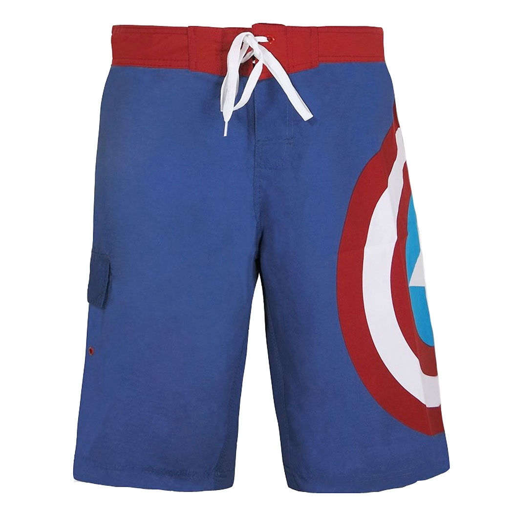Captain America Shield Board Shorts