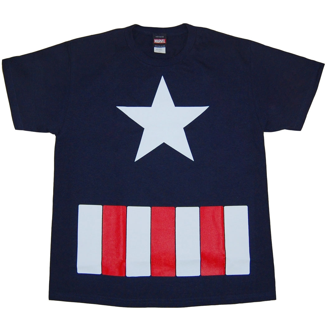 Captain America Costume Juvy T-Shirt