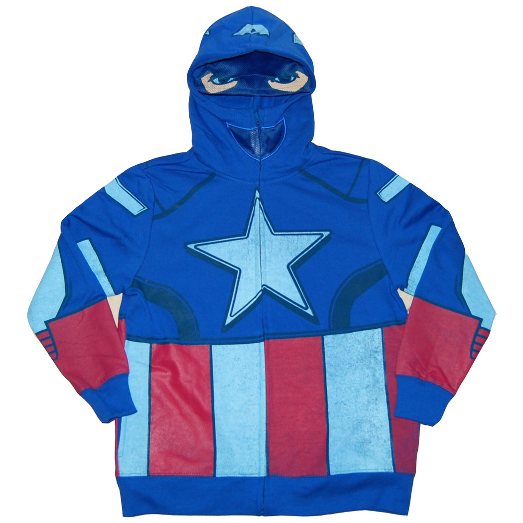 Captain America Costume Youth Kids Hoodie