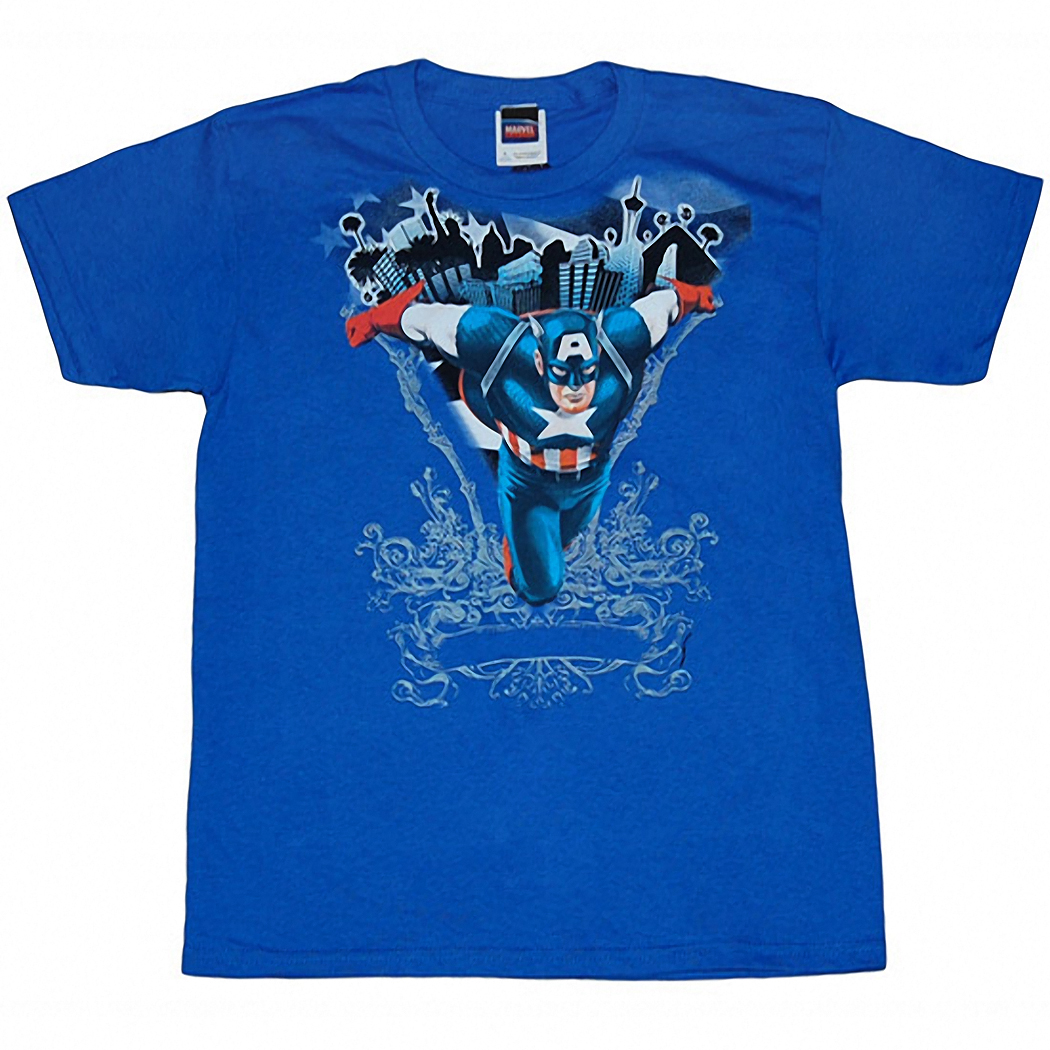 Captain America Action Youth T-Shirt