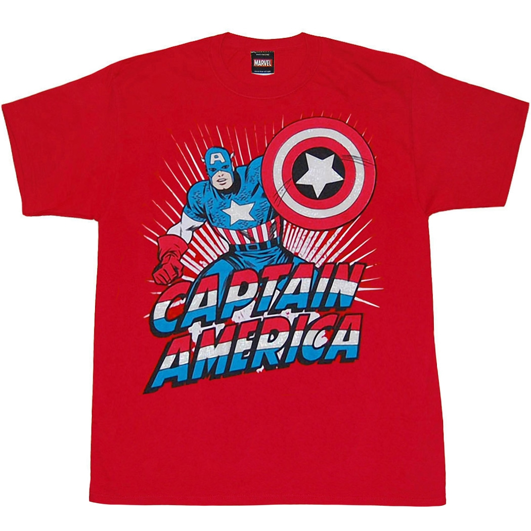 Captain America Stand Strong Youth Kids T-Shirt