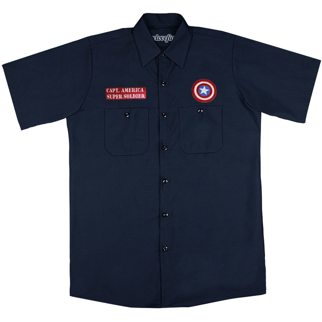 Captain America Work Shirt