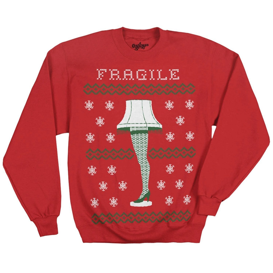 Christmas Story Leg Lamp Ugly Christmas Sweatshirt