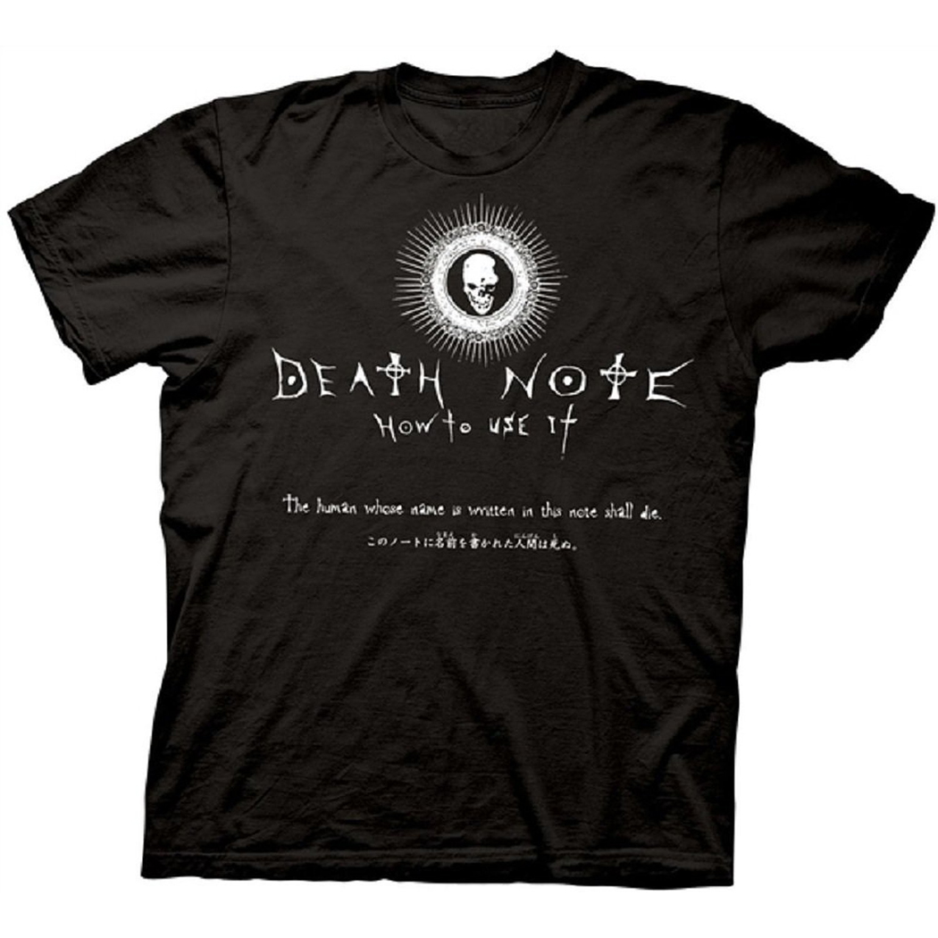 Death Note Notebook Instructions T-Shirt