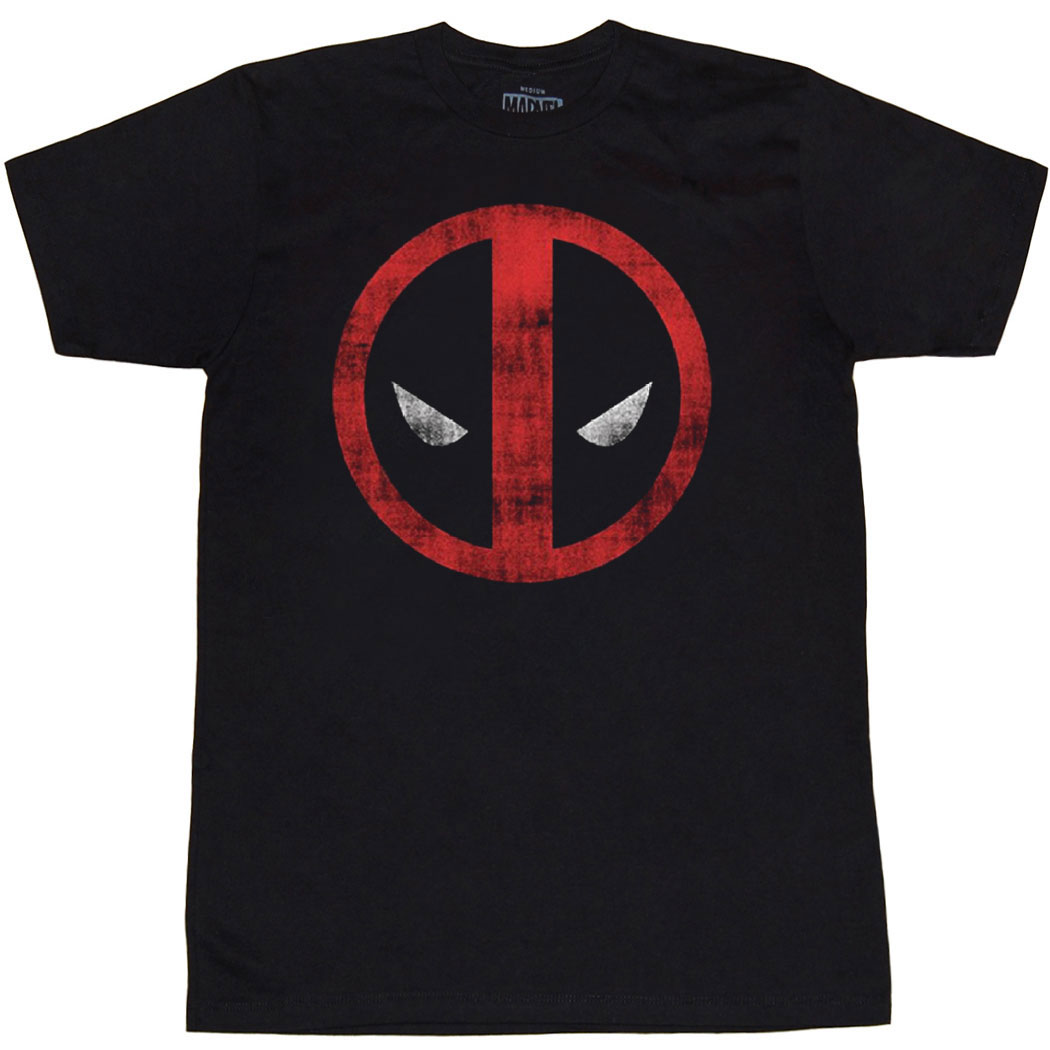 Deadpool Logo Distressed T-Shirt