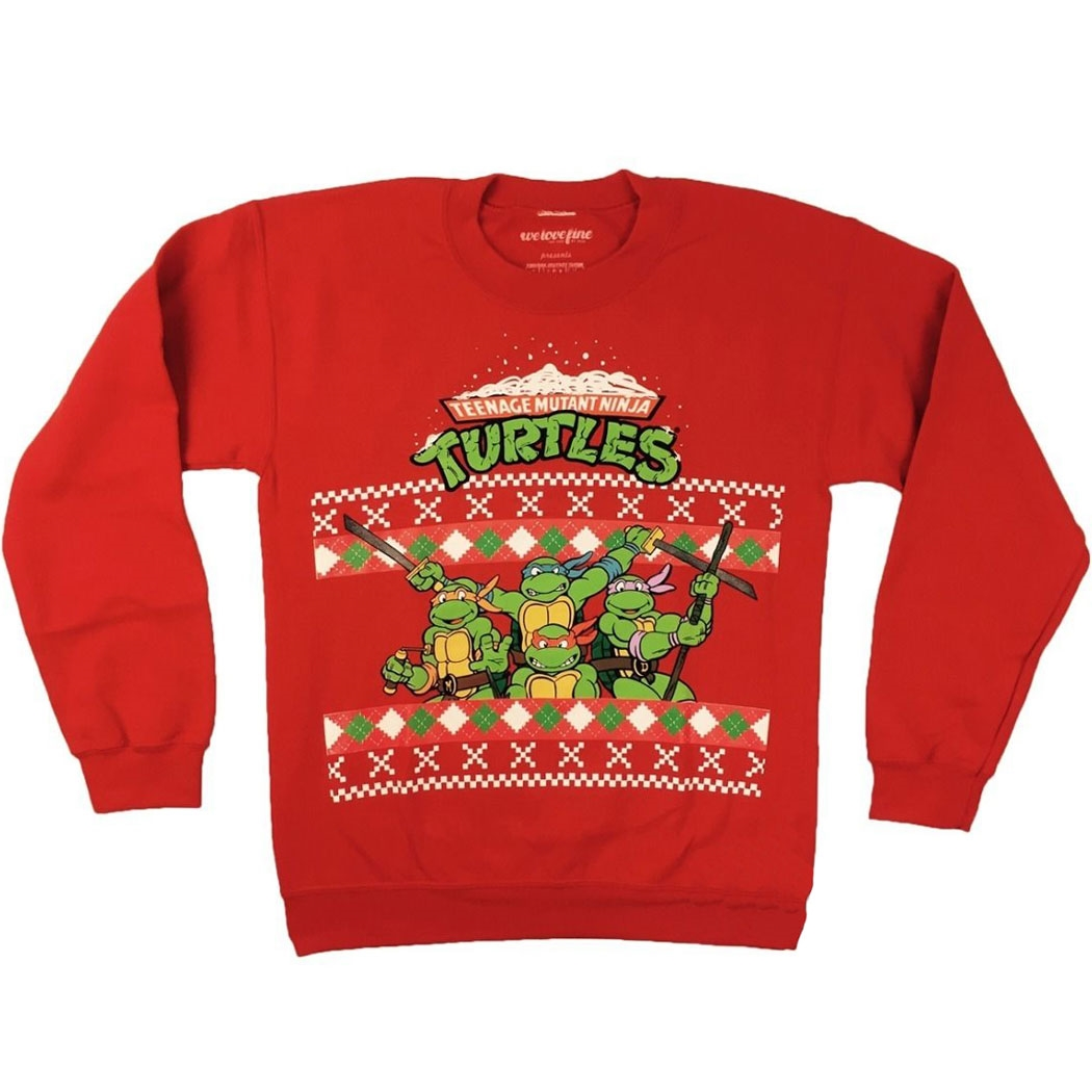 Teenage Mutant Ninja Turtles Ugly Christmas Sweater | AnimationShops.com