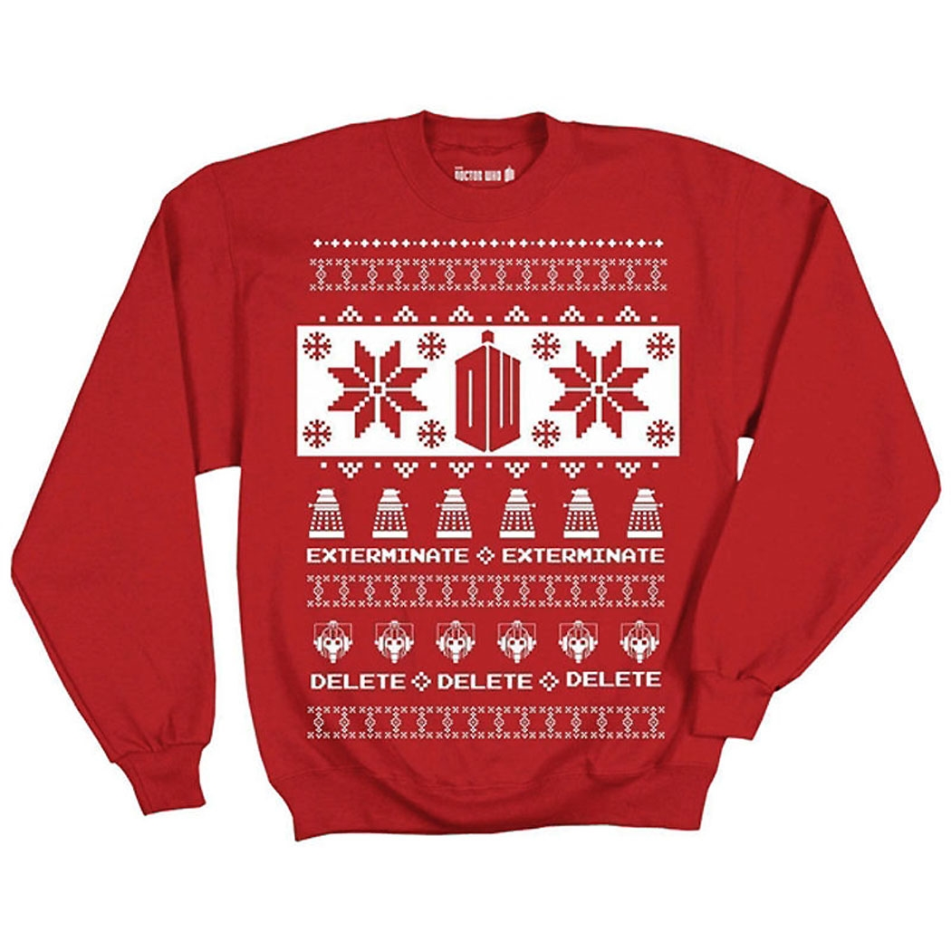 Doctor Who Villains Ugly Christmas Sweater