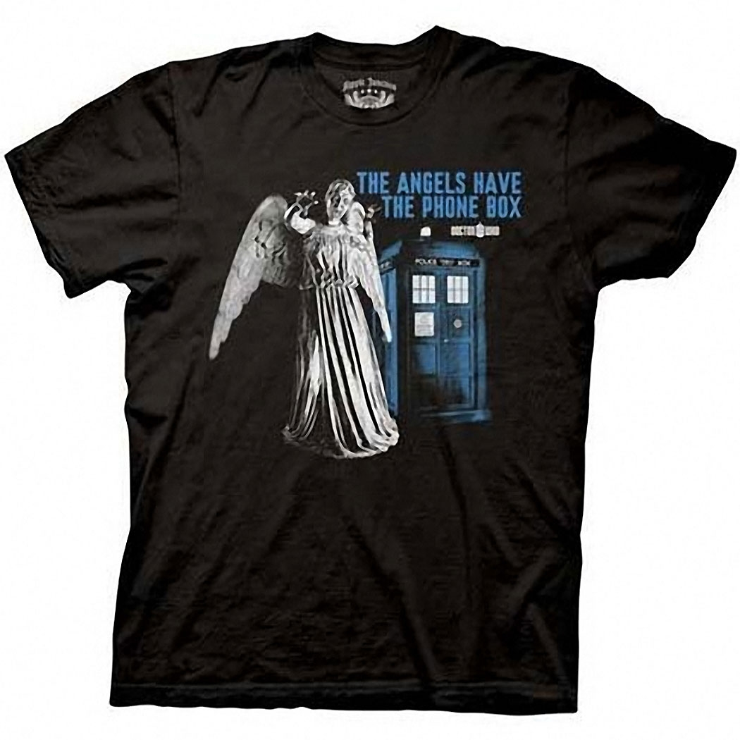 Doctor Who Angels Have Phone Box T-Shirt