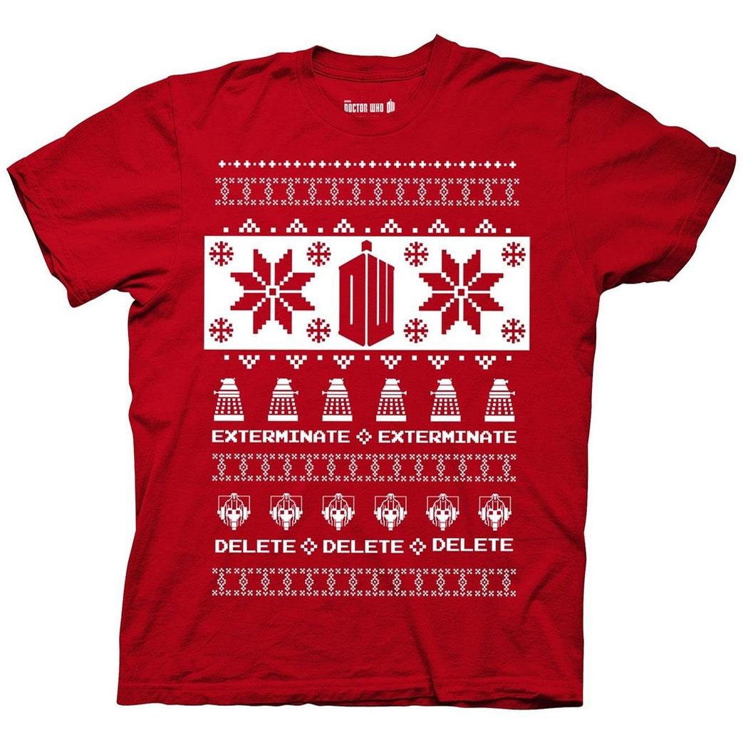 Doctor Who Villains Ugly Sweater T-Shirt